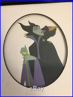 Walt Disney Framed'Villainous Portraits' Ltd Sericel with COA