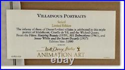 Walt Disney Framed'Villainous Portraits' Ltd Sericel with COA Animation Artwork