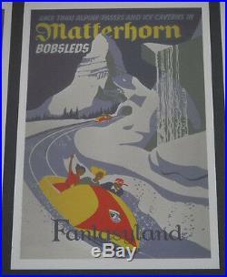 Walt Disney Gallery Collectable Disneyland's Fantasy Land Poster Artwork Framed