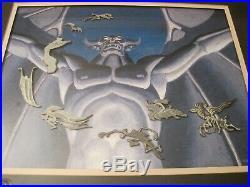 Walt Disney Gallery Night on Bald Mountain Framed Pin Set Limited Edition & COA