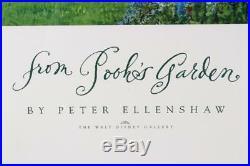 Walt Disney Gallery Print From Poohs Garden by Peter Ellenshaw Framed Vintage