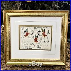 Walt Disney Galley Sorcerers Apprentice Sketches Limited Edition Framed Pin Set