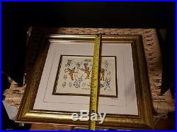 Walt Disney Galley Tinkerbell Sketches LE 955/7500 Framed Pin Set COA