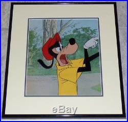 Walt Disney Goofy 1961 Orig Framed Gold Label Production Cel Henpecked Husbands
