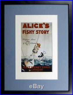 Walt Disney Hand Signed Alice Comedies 8x10 Frame Silent Movie Virginia Davis
