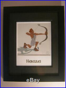 Walt Disney Hercules Hero In Training Limited Edition Sericel Framed withCOA