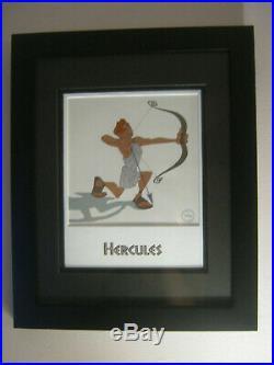 Walt Disney Hercules'Hero In Training' Ltd Ed Sericel Framed withCOA