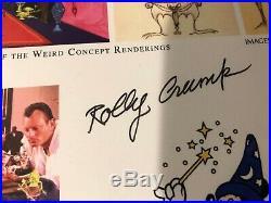 Walt Disney Imagineering Art of Rolly Crump Haunted Mansion SIGNED Frame Display