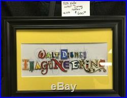Walt Disney Imagineering LE250 Special Letter Pin Set Framed