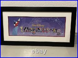 Walt Disney Imagineering Letter Framed Pin Set Rare