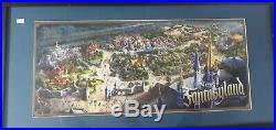 Walt Disney Imagineering New Fantasyland Signed Wdi Concept Framed Art Prototype