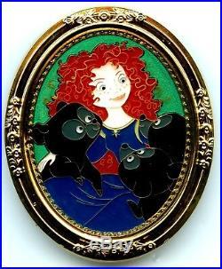 Walt Disney Imagineering Princess Merida & Bear Brothers Gold Frame Pin