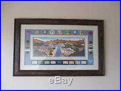 Walt Disney Imagineering WDI Carsland 24 Pin Set Framed EXTREMELY RARE CAST ITEM