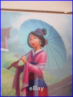 Walt Disney Imagineering WDI Mulan RARE Pin Frame Set