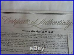 Walt Disney It's A Wonderful World Tinker Bell Certified Sericel Framed Picture