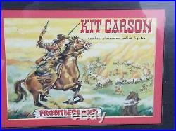 Walt Disney Kit Carson 1950, s UNUSED LUNCHBOX PRODUCTION SHEET PANEL Framed
