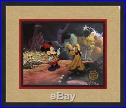 Walt Disney L/ED Mickey & Pluto Animation Sericel Custom Framed FREE SHIPPING #2