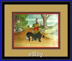 Walt Disney L/ED Winnie the Pooh Animation Sericel Custom Framed FREE SHIPPING