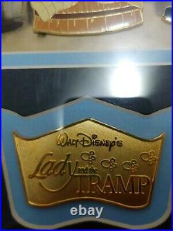 Walt Disney Lady And The Tramp Glass Framed Print With Pin Set Home Decor 18×15