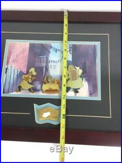 Walt Disney Lady And The Tramp Pins Certificate Of Authenticity Framed