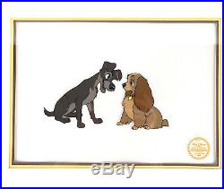 Walt Disney Lady and the Tramp Serigraph Cel Sericel Limited Edition COA Framed
