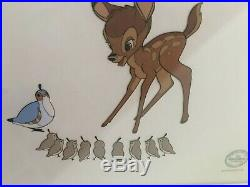 Walt Disney Limited Edition Bambi Serigraph Cell Framed 2500, never displayed