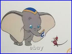 Walt Disney Limited Edition Dumbo Serigraph Cel Framed Art FREE USA SHIP