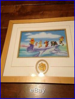 Walt Disney Limited Edition Framed'Pooh's Adventure' pin set 1158 of 2500