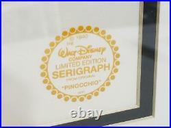 Walt Disney Limited Edition Pinocchio Serigraph Cel Framed Art FREE USA SHIP