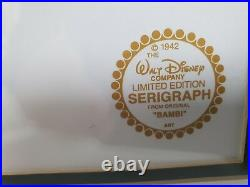 Walt Disney Limited Edition Serigraph Original Bambi, Framed