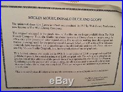 Walt Disney Lonesome Ghost Framed LE Sericel MIckey Donald Goofy