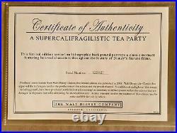 Walt Disney Mary Poppins A Supercalifragilistic Tea Party LE 500 Sericel Framed