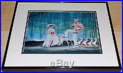 Walt Disney Mary Poppins Framed Dye Transfer Print Julie Andrews Dick Van Dyke