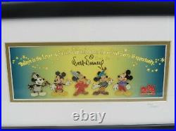Walt Disney Mickey Millennium Framed Pin Set with COA Limited Edition