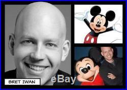 Walt Disney & Mickey Mouse Bret Iwan Voice NEW 8x10 NEW Frame COA