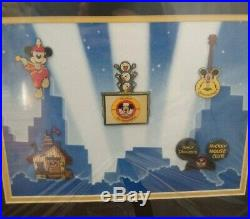 Walt Disney Mickey Mouse Club 5 Pin Set Framed Honoring the 45th Anniversary LE