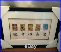 Walt Disney Mickey Mouse Film Shorts 10 Pin Framed Set LE 791/3,000 with COA