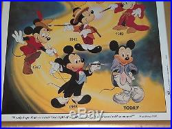 Walt Disney Mickey Mouse Generations Then And Now Framed Poster #88002 21x17
