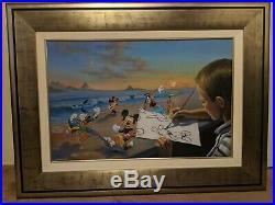 Walt Disney Mickey Mouse Jim Warren Dream Maker 63/195 Giclee on Canvas Framed