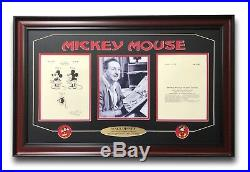 Walt Disney / Mickey Mouse Patent Drawing Framed Photo Collage #d/250 Pins World