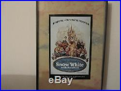 Walt Disney Mickey Mouse Vintage Movie Posters Framed Lot of 10 8' x 5