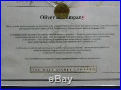 Walt Disney Oliver & Company Jenny Original Production Cel Painting Framed