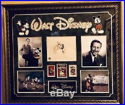 Walt Disney Original Drawing Signed And Authenticated Custom Framed Display