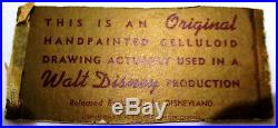 Walt Disney Original Framed Handpainted Celluloid Drawing Sword in the Stone
