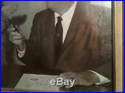 Walt Disney Original Hand Signed Autograph Signature Large Framed Picture Damage