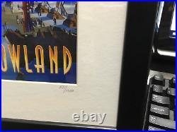 Walt Disney Park, Tomorrowland 4 Astronauts Framed Pin Set numbered 271/1500