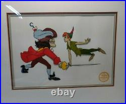 Walt Disney Peter Pan Limited Edition Gold Wood Frame SERIGRAPH Cell 1953