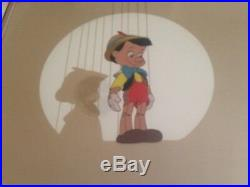 Walt Disney Pinocchio Serigraph Cel Limited Edition Framed