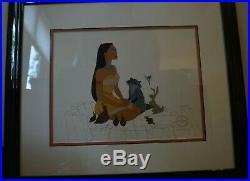 Walt Disney Pocahontas Meeko Woodland Friends Framed Limited Edition Sericel