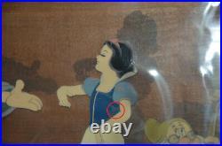 Walt Disney Production Cels Setup on Courvoisier Background from Snow White